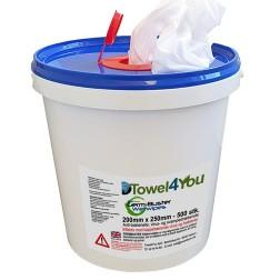 Antibakterielle, virus- og svampedræbende vådservietter, 500 stk.